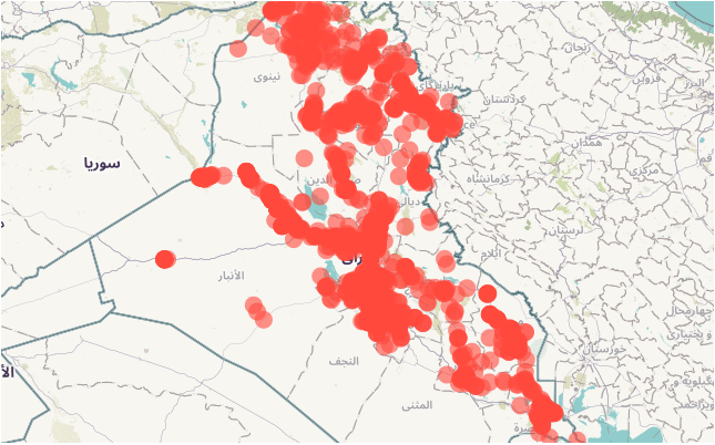 Photo of شيب فايل – مواقع الأشخاص المتضررين – العراق  (25 نوفمبر 2014)