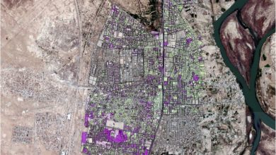 Photo of قاعدة بيانات لمدينة بيجي ( طرق و مباني سكنية ) + صورة جوية بدقة 0.5 متر بمحافظة صلاح الدين – العراق