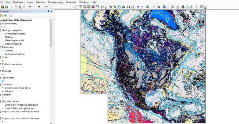 Photo of قاعدة بيانات كاملة لجيولوجية قارة امريكا الشمالية