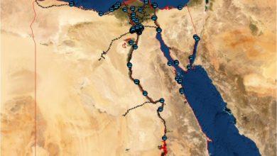 Photo of شيب فايل شبكة السكك الحديدية والمحطات مقياس 500,000 بمصر