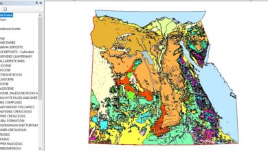 Photo of تحميل شيب فايل الخريطة الجيولوجيا Egypt Geology Map – مصر