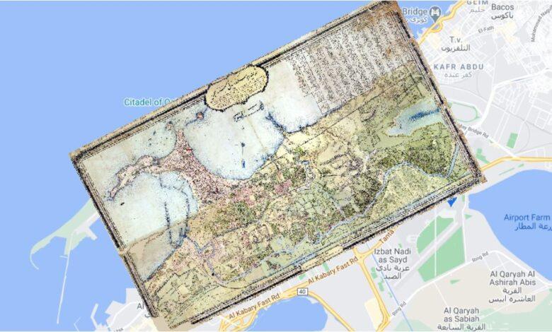 Photo of تحميل خريطة مدينة الإسكندرية في عام 1282 سنة هجرية مرجعة جغرافياً